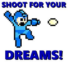 "MEGAMAN 8 BIT ""SHOOT FOR YOUR DREAMS"" Photographic Print"