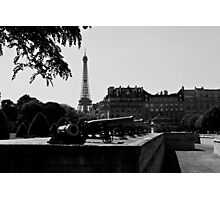 The canons of the Invalides and Eiffel tower Paris Photographic Print