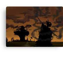 Welcome to the world of the plastic beach Canvas Print