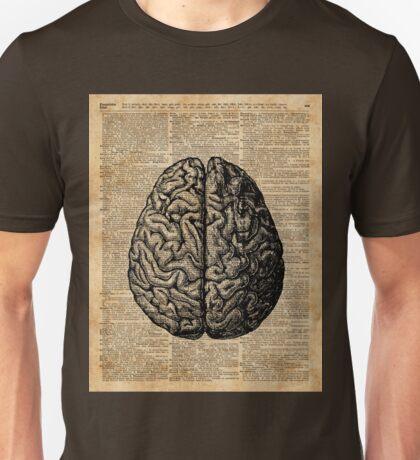 Vintage Human Anatomy Brain Illustration Dictionary Book Page Art Unisex T-Shirt