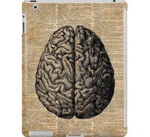 Vintage Human Anatomy Brain Illustration Dictionary Book Page Art iPad Case/Skin