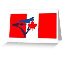 Toronto Blue Jays Flag Logo Greeting Card