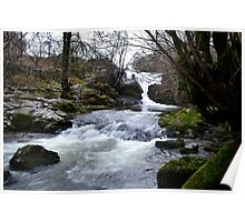 Yorkshire Dales Waterfall, Winter 2011 Poster