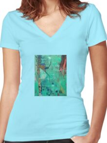 Under Water Women's Fitted V-Neck T-Shirt