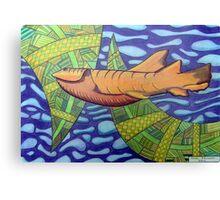 363 - SHARK DESIGN - DAVE EDWARDS - COLOURED PENCILS - 2012 Canvas Print