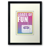 ATTENTION! Classic Gamer on Deck! Framed Print