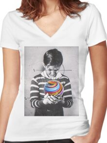 Marble found Women's Fitted V-Neck T-Shirt