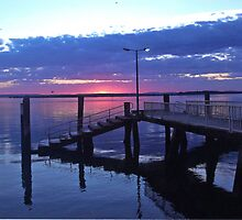 Dawn Over The Redland Bay Jetty. by CeciliaMay