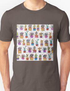 Watercolor hand paint cactus pattern Unisex T-Shirt