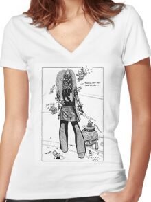 Dystopia 06 Women's Fitted V-Neck T-Shirt