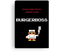 burger boss arcade Canvas Print