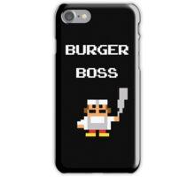 burger boss arcade iPhone Case/Skin