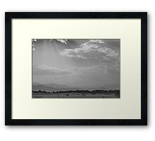 In Gods Country BW Framed Print