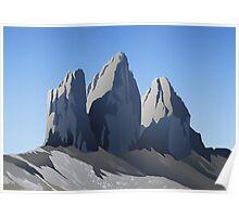 Dolomiti: le tre cime di Lavaredo Poster