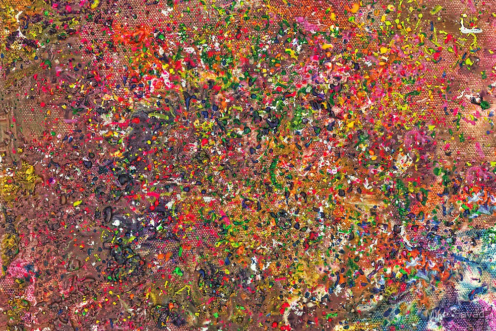 Abstract - Crayon - A Genuine Fiasco by Mike  Savad