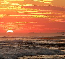 Sunset at Point Lonsdale by Julie Begg