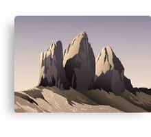 Tre cime di Lavaredo at sunset Canvas Print
