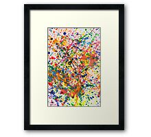 Abstract - Crayon - Mardi Gras Framed Print