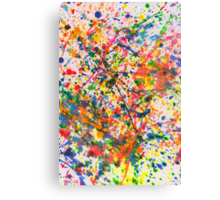 Abstract - Crayon - Mardi Gras Canvas Print