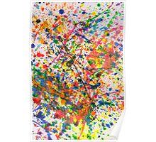 Abstract - Crayon - Mardi Gras Poster