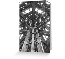 Tower Spire Church Münster Ulm Cathedral Greeting Card