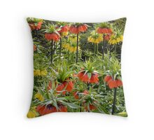 Imperial Crown Flower Yellow Orange Throw Pillow