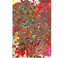 Abstract - Crayon - Montazuma's Revenge Photographic Print