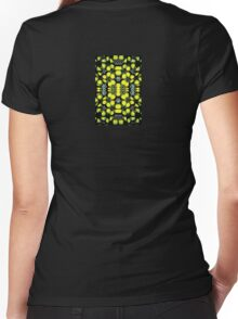 Yellow Sign Women's Fitted V-Neck T-Shirt