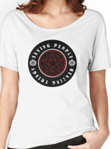 Saving people and hunting things! Women's Relaxed Fit T-Shirt