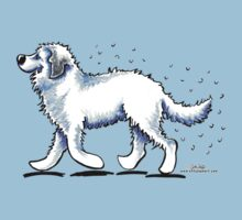 Great Pyrenees Hairy Wake by offleashart