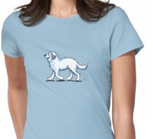 Great Pyrenees Hairy Wake Womens Fitted T-Shirt
