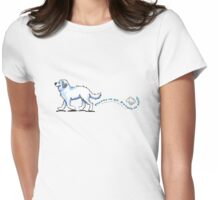 Great Pyrenees Places to Go Womens Fitted T-Shirt