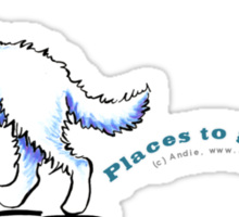 Great Pyrenees Places to Go Sticker