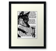 The Dark Wood 'Fox and Weasel' Illustration Framed Print