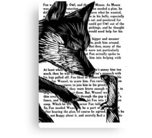 The Dark Wood 'Fox and Weasel' Illustration Canvas Print