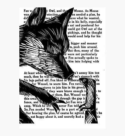 The Dark Wood 'Fox and Weasel' Illustration Photographic Print