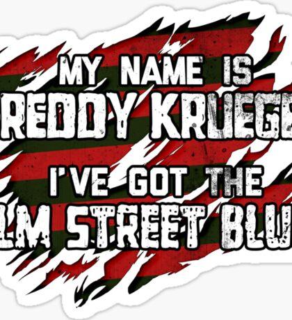 Elm Street Blues (Reuben) Sticker