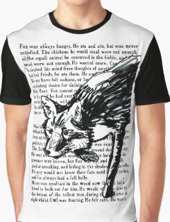 The Dark Wood 'Stalking Fox' Design Graphic T-Shirt