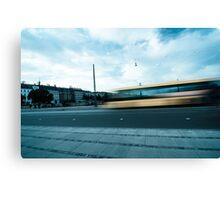 A bus in Copenhagen Canvas Print