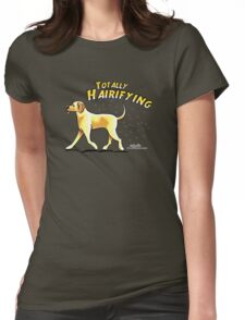 Yellow Lab :: Totally Hairifying Womens Fitted T-Shirt