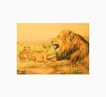 Lion and Cubs Oil Pastel Drawing Classic T-Shirt