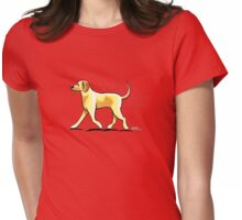 Yellow Lab Hairy Wake Womens Fitted T-Shirt