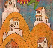 Andean Village_7543 by armandosfineart