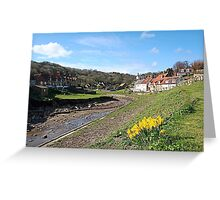Sandsend daffodils Greeting Card