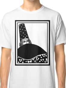 The wizard, vector drawing in black and white Classic T-Shirt