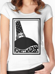 The wizard, vector drawing in black and white Women's Fitted Scoop T-Shirt