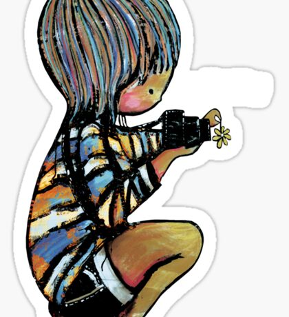 Smile Daisy Photographer Sticker