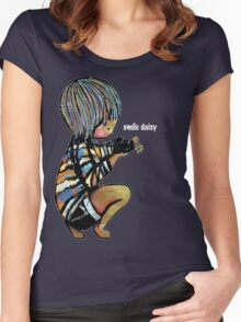 Smile Daisy Photographer Women's Fitted Scoop T-Shirt
