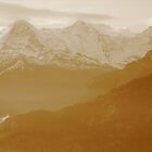 Sisters of the Swiss Alps in Sepia by M-EK