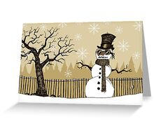 Snowman with goggles Greeting Card